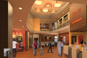 Rendering of the new warm, cozy and engaging Lobby.